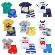 New fashion summer wear 100% cotton kid clothing baba suit children clothes clothing set 2 pcs
