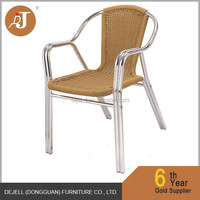 Metal Aluminum and PE Material Rattan Outdoor Chair