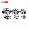 hot selling product wholesale skidproof cheap 201 stainless steel dog bowl with silicone ring