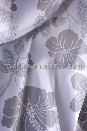 wholesale soft hand touch polyester voile printed sheer curtain fabric