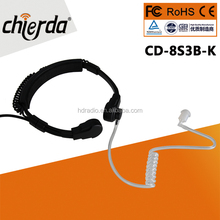 CD-8S3B-P Hot selling for Security Walkie Talkie throat mic headsets