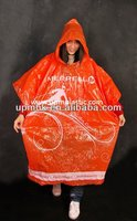 Waterproof Hooded Adult Disposable Raincoat