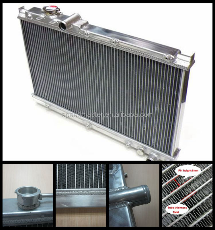 High-performance 8mm fins 3 core all aluminum radiator for M ITSUBISHI