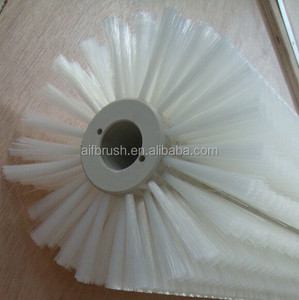 Industry white nylon bristle cleaning brush roller for brushing machine