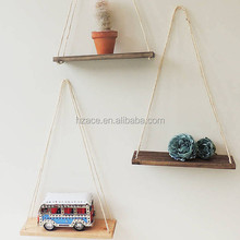 Solid Wood Display Home Decoration Simple Wall Rack Nordic Style Natural Wooden Shelf