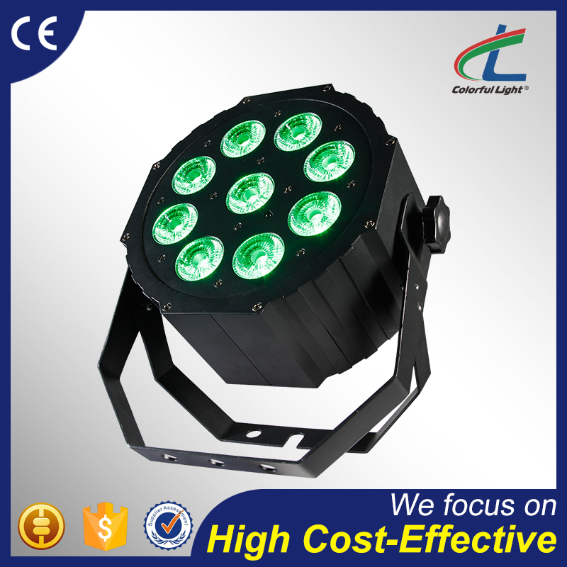 factory price rgbaw uv 6 in 1 rotating led stage light 9x12W zoom battery powered par led