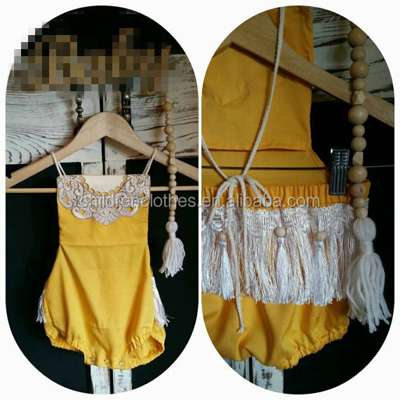 Bulk infant rompers jumpsuit and one-piece baby tassels wear