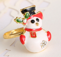 Cute baby Christmas Snowman Ring