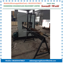 Twin Vertical Band Saw Wood Sawmill Lumber Cutting Saw Machine