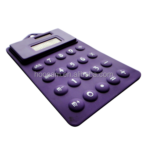 Digital Display Calculator, made of silicone+ button cell
