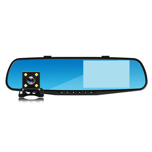 4.3 inch Dual Lens Rear View dvr Full HD 1080P Car Camera Rearview Mirror