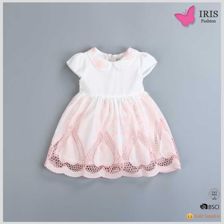 Children Frock Designs Cute Kids Clothes Fashion Girls Summer Cotton Lace Party Dresses