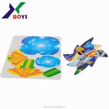 China shenzhen a promotional Gift Toys wooden 3D Puzzle pp spinner spinning top puzzles gyro puzzle