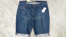 High quality denim fabric wholesale for cheap denim shorts overstock clearance