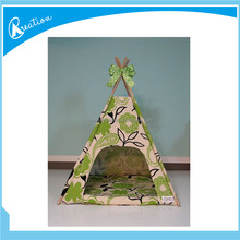 large wooden pole dog house pet teepee kennel