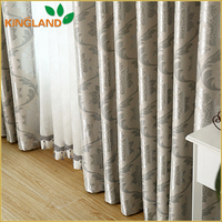 Latest Fancy Design 100% Polyester Jacquard Curtain Fabric Turkey