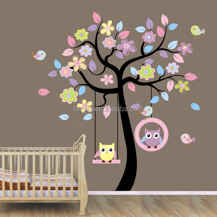 Cute Owl Wall Decal,Wall Stickers for <strong>Kids</strong>.