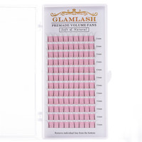 GLAMLASH Bulk Private Label Single Eyelash Extension False Eyelashes Volume Lash Extension pre made fan lash