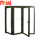 luxury design US standard aluminium profile window doors/cheap aluminum bi-fold doors/folding doors