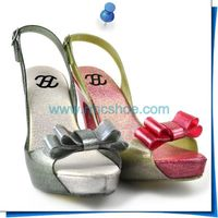 RMC New Shimmer Jelly PVC Ladies High Heel Shoes