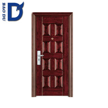 hotel door exterior main steel door flat metal door for apartment