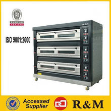 3 decks automatic 9 trays gas rotisserie oven
