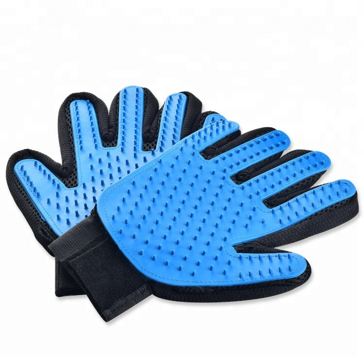 Five Finger Cleaning Brush Pet Grooming Glove , Silicone Massage Hair <strong>Remover</strong> Pet Dog Cat touch Magic Glove for Dogs and Cats