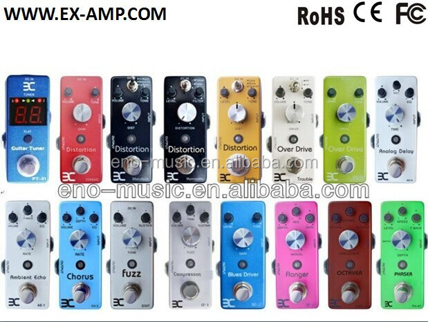 Highly recommended series of mini guitar effects pedals with competitive price for wholesale