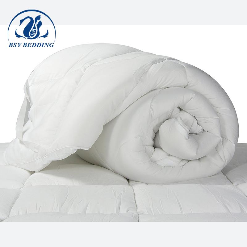 White hotel washed microfiber filled mattress topper polyester soft mattress pad - Jozy Mattress | Jozy.net