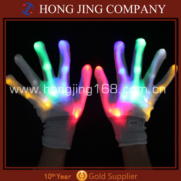 led gloves rave light