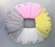 Kids Tulle TUTU Dress Girls Princess soft tulle pompom tutu