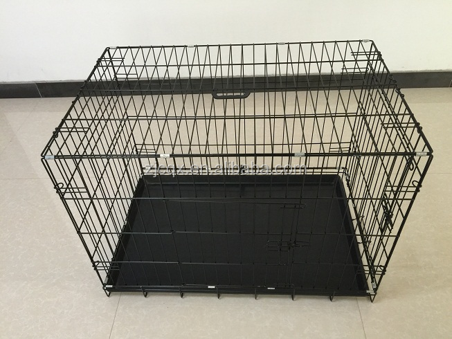 Portable folding wire mesh dog crate cage pet product supplier