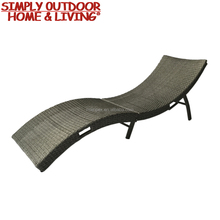 Handmade Outdoor Rattan Furniture/Comfortable Wicker Sun Lounger with Beach Fashionable Special Design Chaise Lounge
