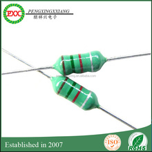 Color code inductors 0612 AXIAL LEAD FIXED INDUCTORS