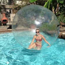 TOP Sale PVC Clear Inflatable Water ball, walk in plastic bubble ball on water