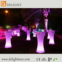 Light Flashing Pillar-shape LED Coffee Table LED Furniture for Party Events and Bar and Coffee Shop with CE Rohs Cert
