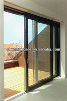wood with aluminium cladding sliding and tilt balcony door