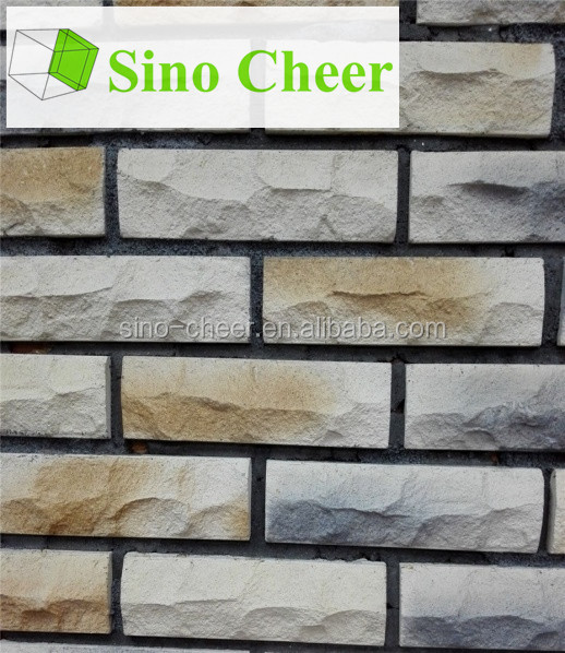 Grey thin antique brick for wall surface