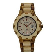 Alibaba china most popular bamboo watch with auto date