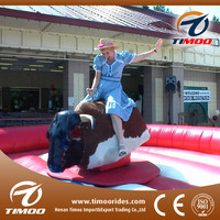 Cheap price playground kids games inflatable mechanical bull ride