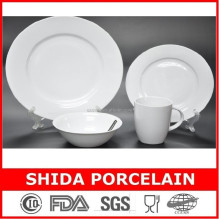 factory direct supply fine super white porcelain 16pcs dinner set