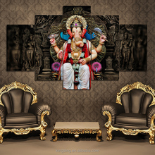 5 Pieces Canvas Painting Wall Art Home Decor For Living Room Prints Elephant Trunk God Modular Poster Ganesha Pictures