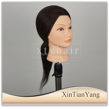 16/18'' female head wholesale price training mannequin head for hairdresser cutting practice