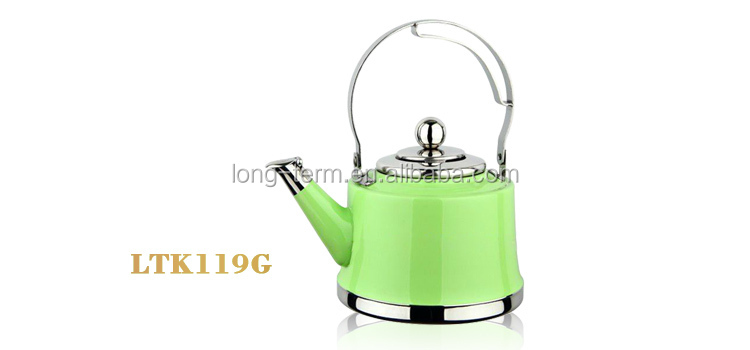 LTK139B red stainless steel london teapot