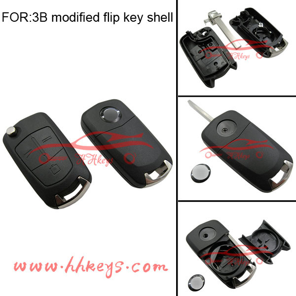 Best selling auto key for 3 buttons HU100 blade flip key remote replacement blank Opel Vectra key
