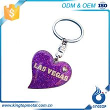 Superior Quality Classical Embossed Promotional Broken Heart Locket Keychain With Key