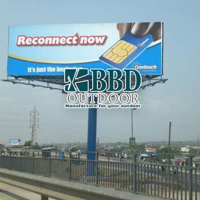 Custom outdoor advertising three faces advertising billboard