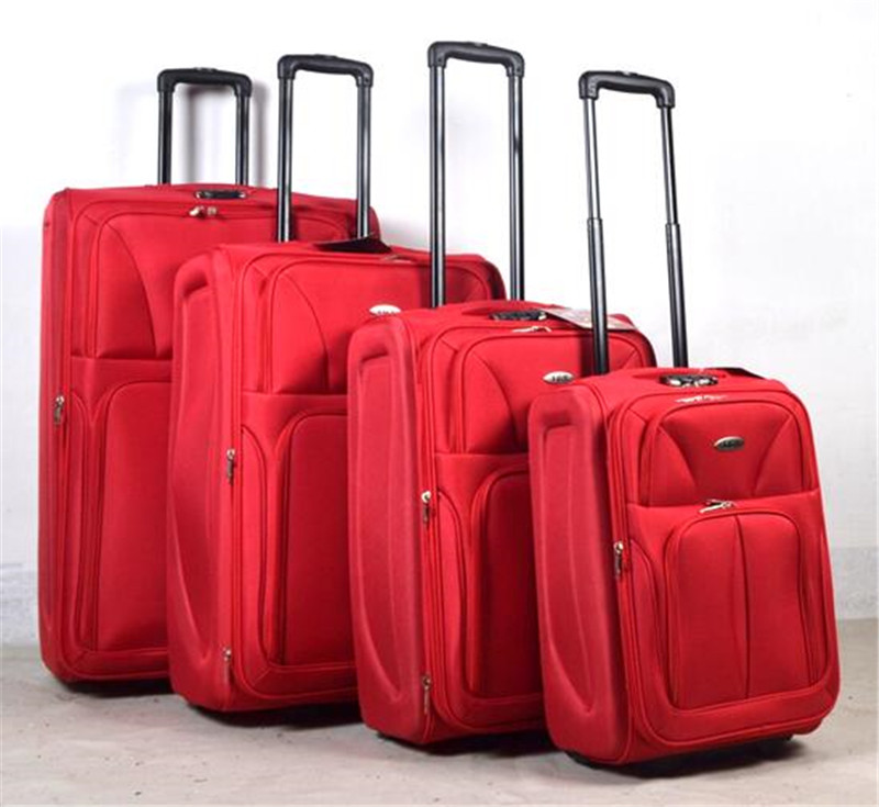 leather trolley travel luggage bag