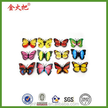 12 pcs cute charming butterfly 3D fridge magnets for wall decor