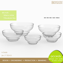 Exquisite Microwave Heat Resistant Pyrex Glass Salad Bowl